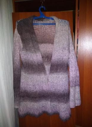 Кардиган,накидка,свитер,вязаная кофта