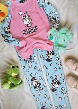 Милая тёплая пижамка/домашний костюм