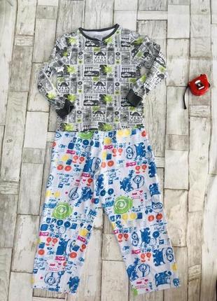 Пижама миньон для мальчика 5-6 лет яркая