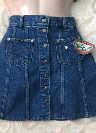 Трендова джинсова юбка з ґудзиками из италии
