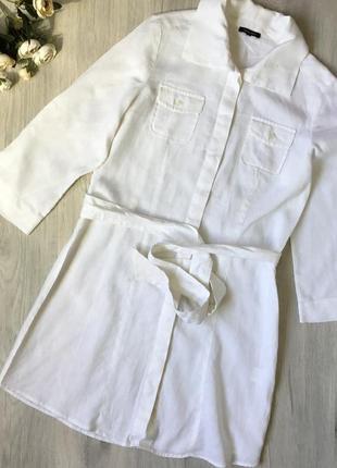 Фирменное льняное платье claudia strater, размер 40