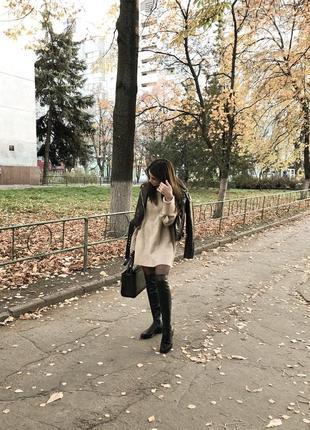 Вязаное платье-свитер zara