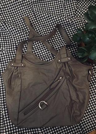 Стильна эко кожаная сумка