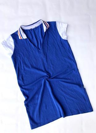 Спортивная футболка поло туника платье под кеды boohoo