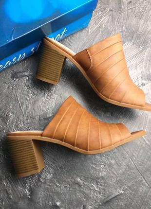 Easy street оригинал сабо босоножки на широком каблуке