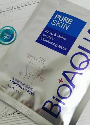 Маска для лица bioaqua pure skin acne rejuvenation moisturising mask 30 г