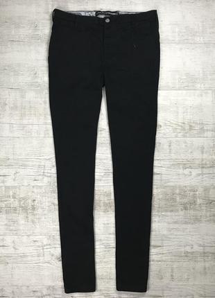 Чёрные хлопковые штаны denim co чиносы зауженные stretch skinny