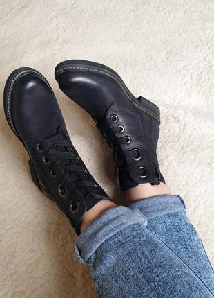 Шикарные качественные кожаные ботинки на шнуровке англия натуральная кожа