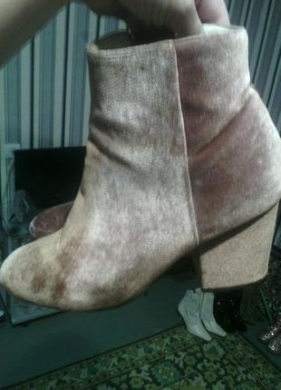 Классные бархатные ботинки 39 полный украинский