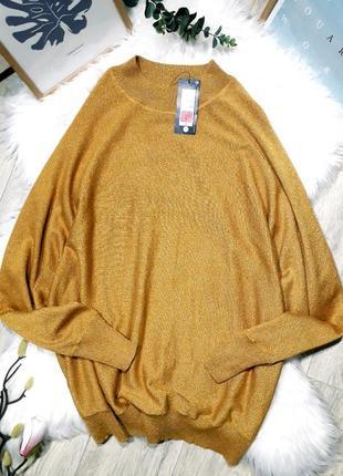 Яркий свитерок тонкой вязки с люррексом от marks&spencer