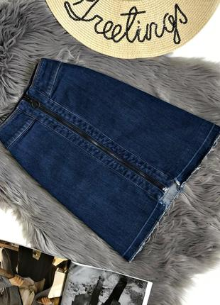 Джинсовая юбка на замочке