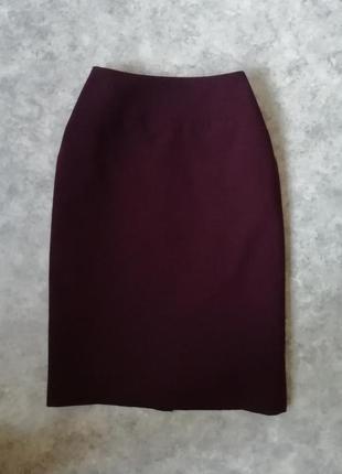 Классическая брендовая юбка apostrophe по фигуре в цвете марсала