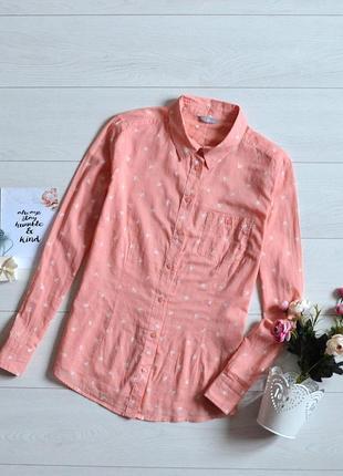 Коттонова рубашка в красивий прінт m&s.