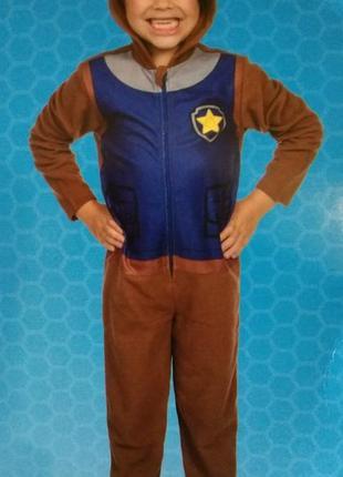 Пижама слип кигуруми щенячий патруль nickelodeon тонкий флис 98-104