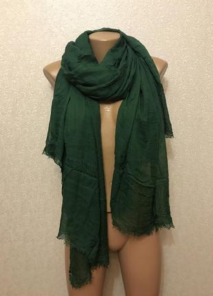 Широкий шарф палантин шаль из легкой ткани