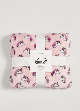 Новый розовый плед одеяло покрывало польша принт единорог лошадь пони мульт аниме кавай