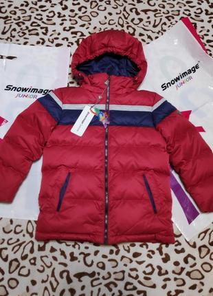 Теплый зимний пуховик куртка snowimage junior