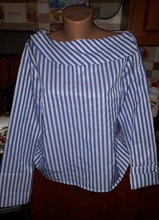 Стильная блуза в полоску gina tricot! размер  м-l.