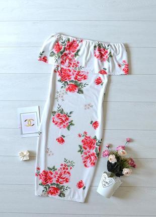 Красиве плаття в квіти, відкриті плечі missguided