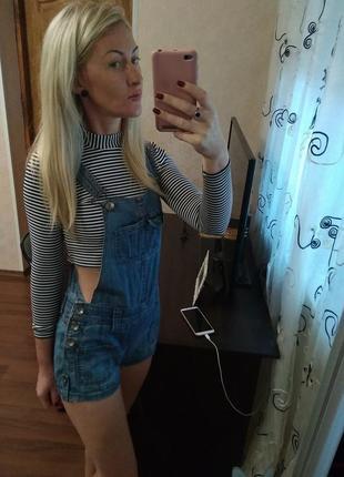 Комбінезон, комбез летний джинсовий з шортами- xs,s