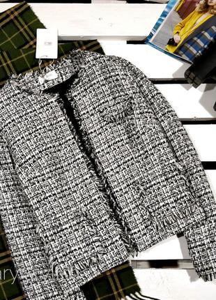 Очень крутой твидовый пиджак жакет, твид