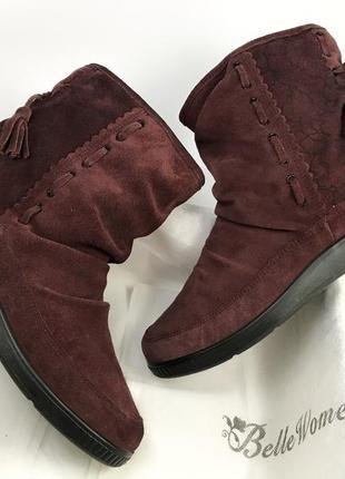 Женские английские ботинки сапоги замшевые натуральная замша на меху зимние hotter