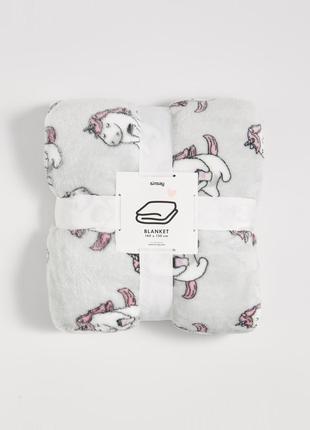 Новый светло-серый плед одеяло покрывало польша принт единорог кофе пони лошадь аниме