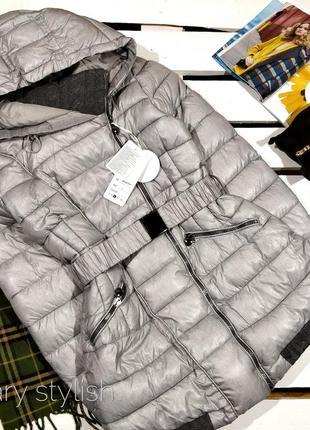 Куртка серая с довязом, зима