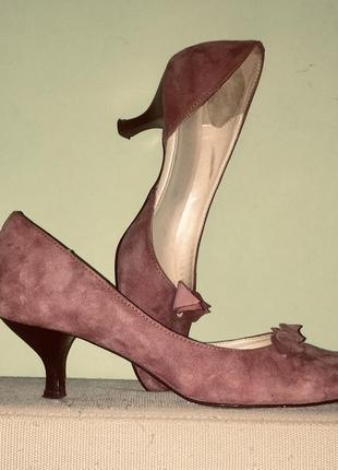 Туфли италия из натуральной замши