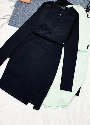 Новое чёрное платье по фигуре
