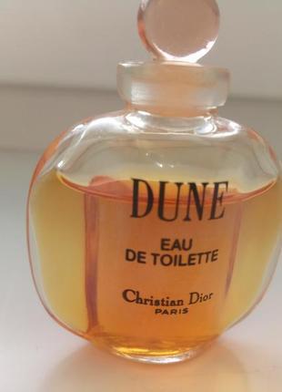 Винтажная миниатюра dune christian dior, туалетная вода, 5 мл