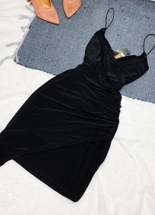 Новое чёрное платье с ассиметричным низом