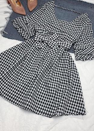Новое платье в клетку свободного кроя