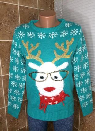 Новорічний святковий светрик avesta новогодний свитер с оленем