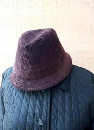 Трендовая вельветовая шляпа панама