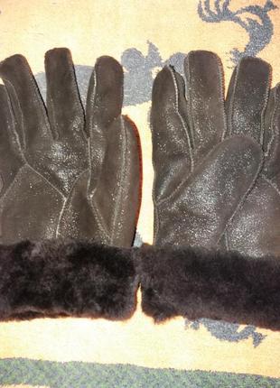 Перчатки  мужские замша