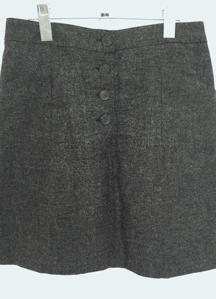 H&m юбка 35% шерсти р.36s