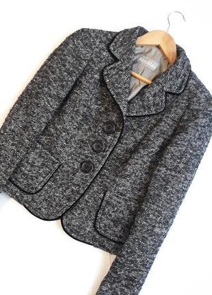 Max mara люкс бренд дизайнерский#теплый#фактурный#шерстяной жакет#блейзер#пиджак maxmara.