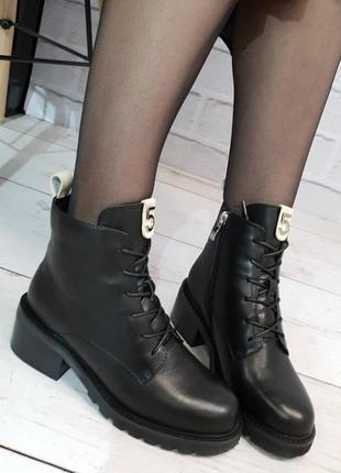 Ботинки зимние angelo vani, натуральная кожа, зима 2020