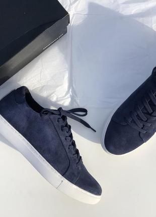 Кеды замшевые кожаные синие фирменные новые кроссовки kenneth cole размер 39,5