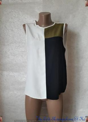 Фирменная new look нарядная  вискозная сдержанная блуза в три  цвета, размер м-л