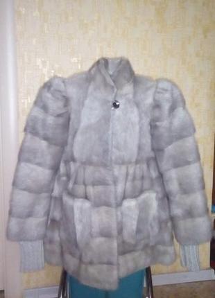 Роскошная шубка из натуральной норки/норковая шуба/норка/пальто/шубка/полушубок/пуховик