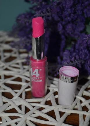 Губная помада maybelline super stay 14h megawatt lipstick неоновый розовый оригинал