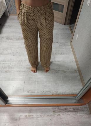 Новые широкие прямые брюки палаццо высокая посадка