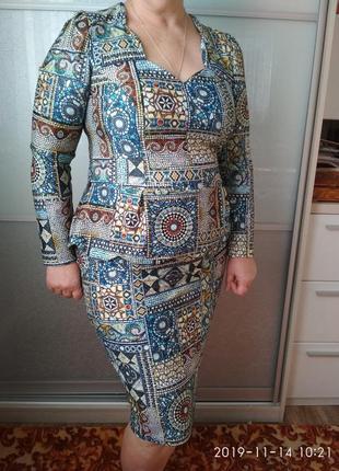 Платье miss jannell/ размер 50