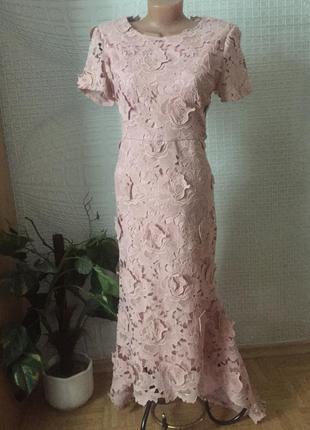 Шикарное французское вечернее платье от f&p