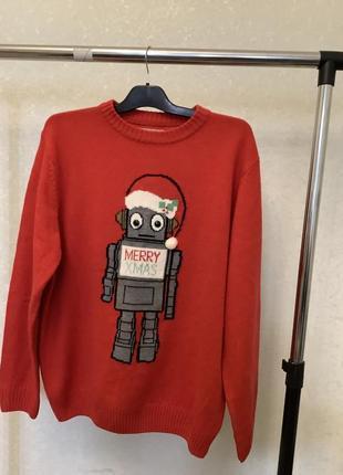 Новогодний свитер джемпер р.л