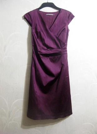 Платье inwear футляр строгое деловое офис фиолетовое бордовое