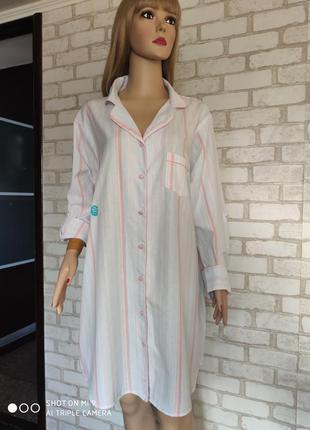 Новая. ночная рубашка 100% хлопок. ночнушка натуральная ткань love to lounge