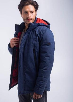 Зимняя стильная мужская куртка jeans-j